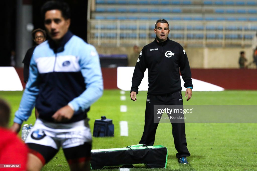 Coach Wilfrid Lahaye of Vannes during the Pro D2 match between Colomiers and Vannes on October 6, 2017 in Colomiers, France.