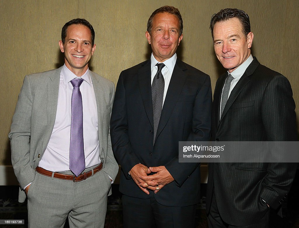 CoachArt President/Co-founder Zander Lurie, United Talent Agency CEO Jeremy Zimmer, and actor <a gi-track='captionPersonalityLinkClicked' href=/galleries/search?phrase=Bryan+Cranston&family=editorial&specificpeople=217768 ng-click='$event.stopPropagation()'>Bryan Cranston</a> attend CoachArt's 9th Annual 'Gala Of Champions' at The Beverly Hilton Hotel on October 17, 2013 in Beverly Hills, California.
