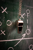 Whistle on a blackboard