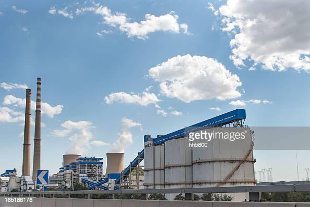 石炭燃えるエネルギー植物