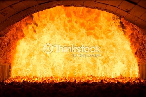 Coal Fire Inside Steam Boiler Stock Photo | Thinkstock