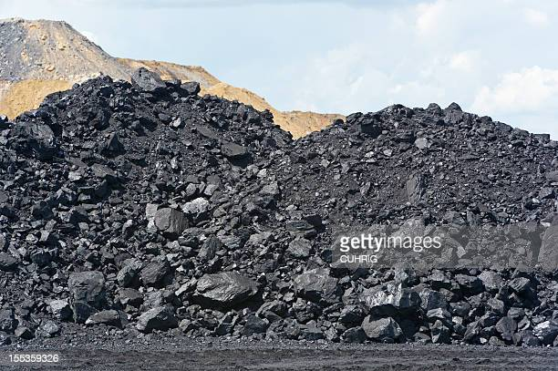 coal heap at loading pad on mine site