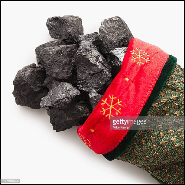 Coal in Christmas stocking