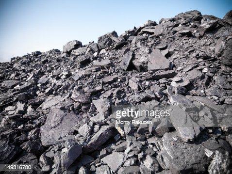 Coal in opencast coalmine