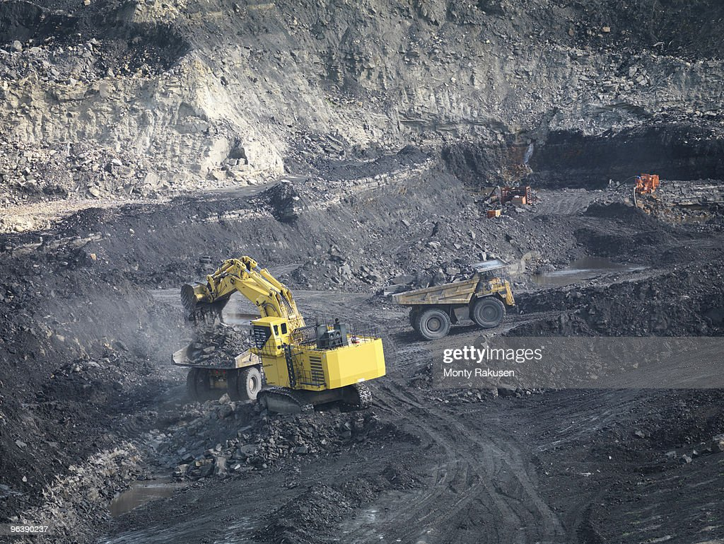 Coal Mine With Diggers