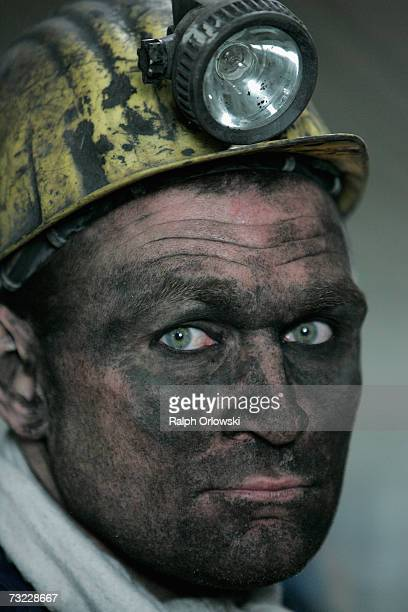A coal miner finishes his shift at the coal mine ProsperHaniel of Deutsche Steinkohle AG on February 6 2007 in Bottrop Germany By the end of 2004...