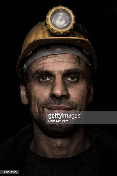 Coal miner Ismail poses for a portrait on his night shift break at a small mine on April 5 2017 in Zonguldak Turkey More than 300 kilometers of coal...