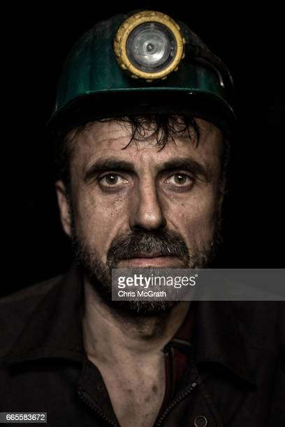 Coal miner Nurettin poses for a portrait on his night shift break at a small mine on April 5 2017 in Zonguldak Turkey More than 300 kilometers of...