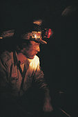 Coal miner with light