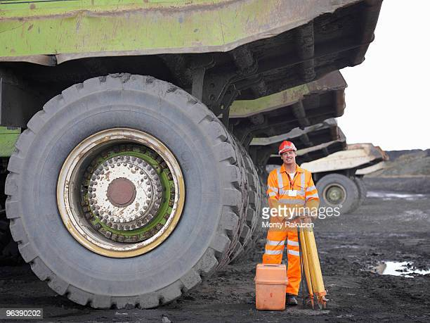 Coal Miner With Surveying Equipment