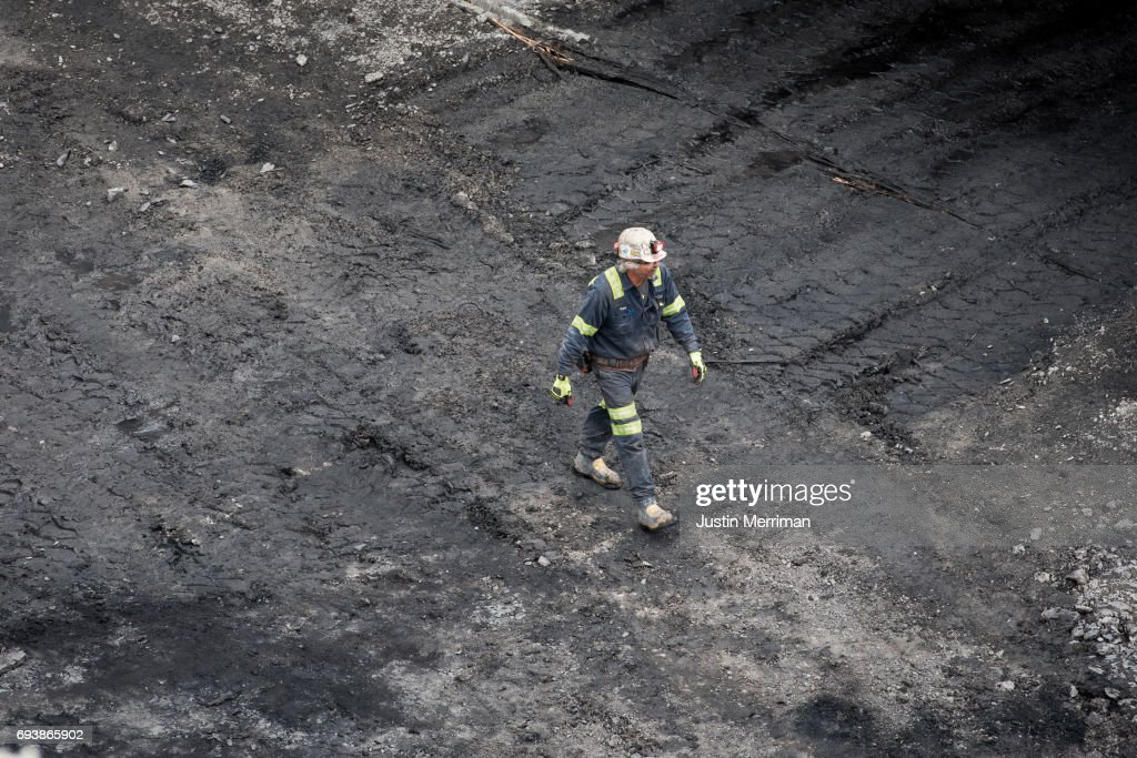 A coal miner works at Corsa Coal's Acosta Deep Mine on June 8, 2017 in Friedens, Pennsylvania. The mine, which celebrated its grand opening Thursday, is expected to create more than 70 new jobs and should produce 400,000 tons of metallurgical coal a year. Coal mining operations began on Wednesday.