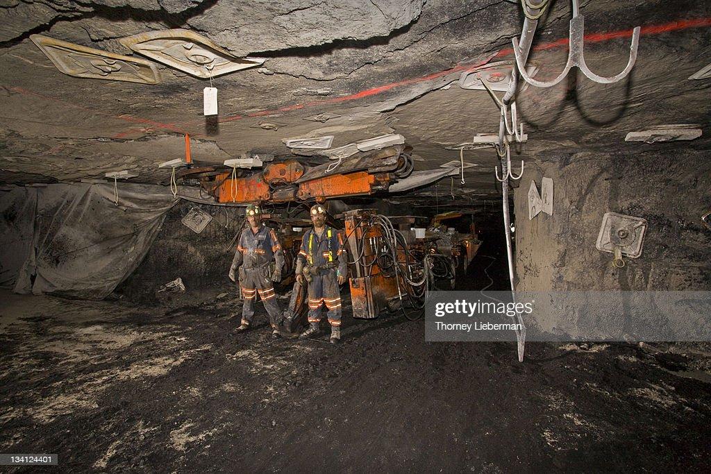 Coal Miners in Underground Mine