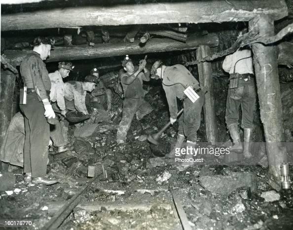 Coal miners Throop Pennsylvania 1943
