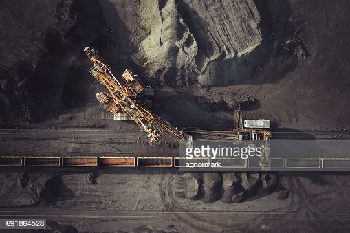 Coal mining from above : Stock Photo