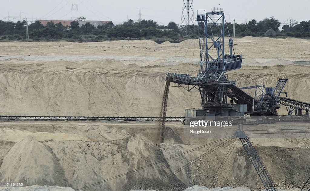 Coal mining in an open pit : Stock Photo