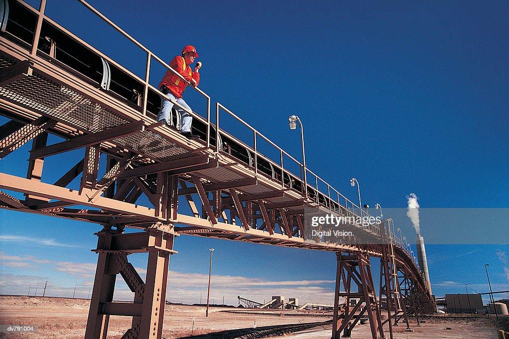 Coal mining station : Stock Photo