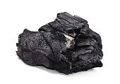Coal on Isolated White Background