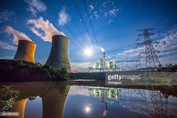 Coal Power Plant At River