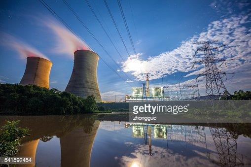 Coal Power Plant At River