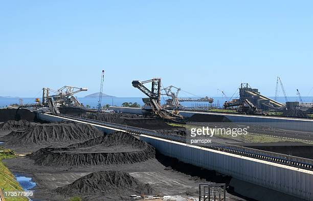 Coal Terminal stock piles ready for export