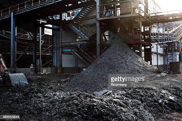 Coal undergoes washing in the direct reduced iron unit of the Jindal Steel Power Ltd plant in Raigarh Chhattisgargh India on Wednesday Feb 11 2015...
