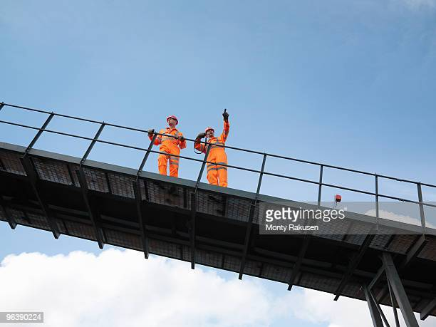 Coal Workers On Viewing Platform