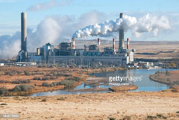 Coal-fired power plant on river in eastern Wyoming