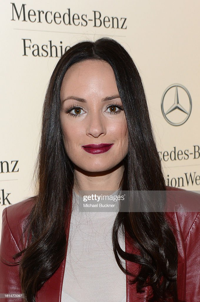 Co-anchor for 'E! News Weekend Catt Sadler attends the Mercedes-Benz Star Lounge during Mercedes-Benz Fashion Week Fall 2013 at Lincoln Center on February 11, 2013 in New York City.