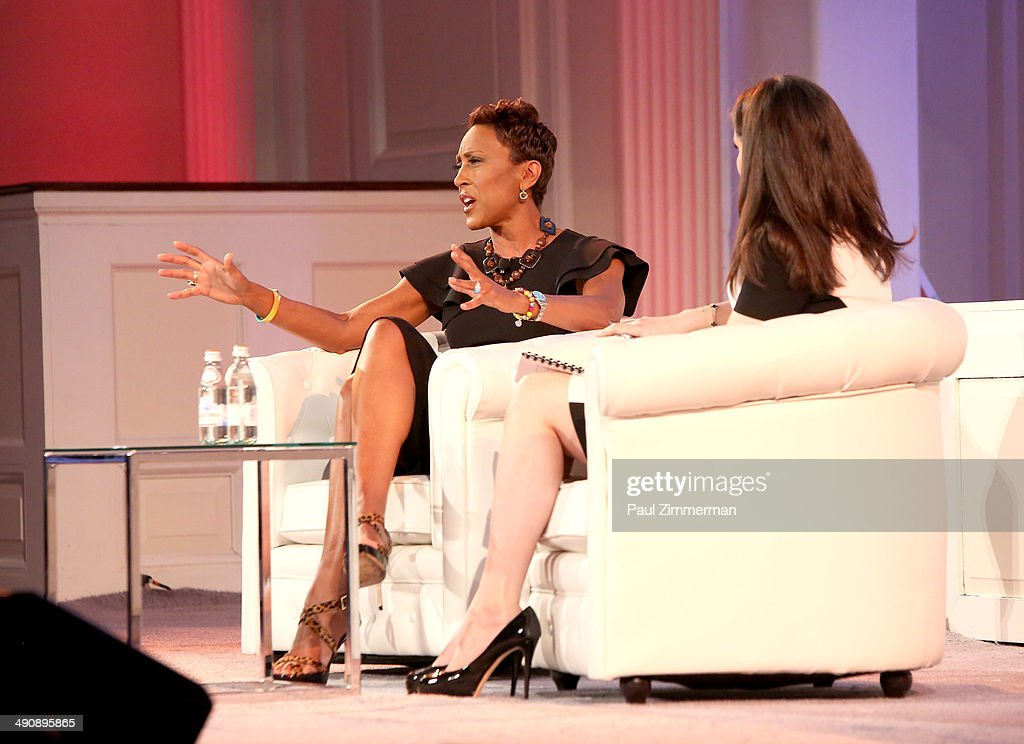 Co-anchor Good Morning America, Robin Roberts (L) and Moira Forbes President and Publisher ForbesWoman attend Forbes Women's Summit:The Entrepreneurship of Everything at 583 Park Avenue on May 15, 2014 in New York City.