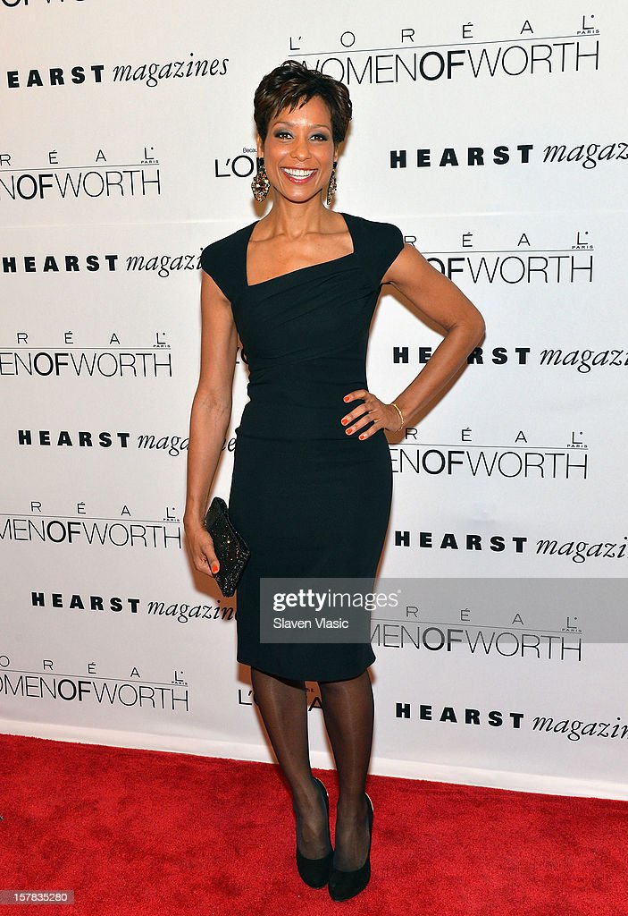 TV co-anchor Sade Baderinwa attends Seventh Annual Women of Worth Awards at Hearst Tower on December 6, 2012 in New York City.