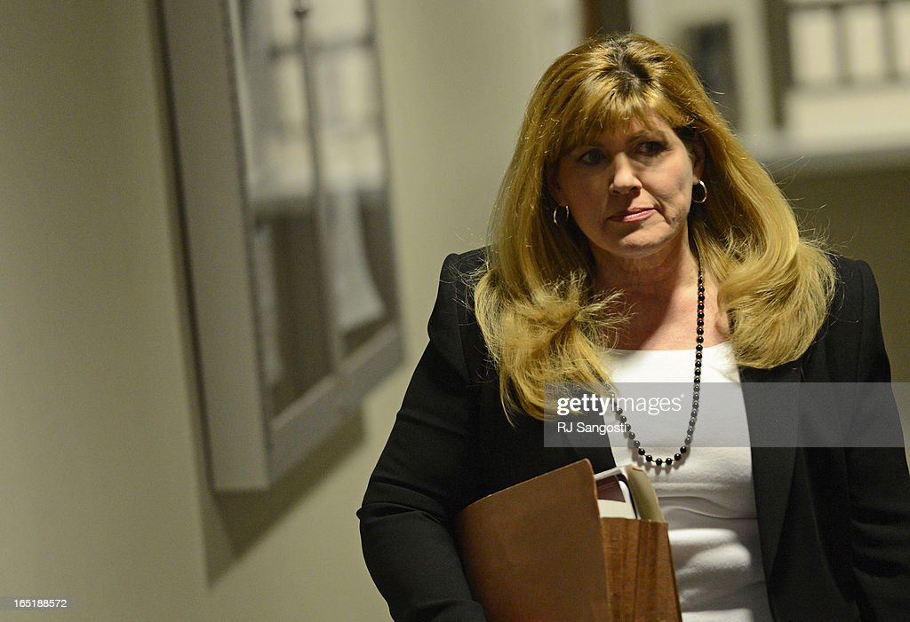 Karen Pearson, the lead prosecutor, arrives for a court hearing for Aurora theater shooting suspect James Holmes, Monday April 01, 2013. The prosecution will go for the death penalty against the Aurora theater shooting suspect James Holmes.