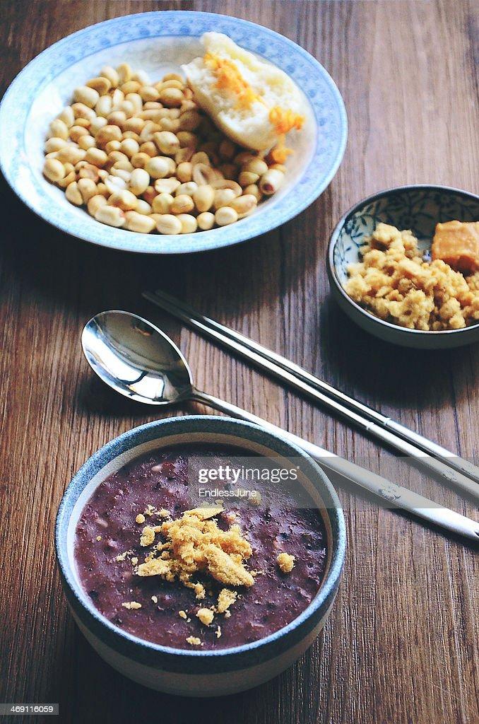 Coarse Cereals Congee : Stock Photo