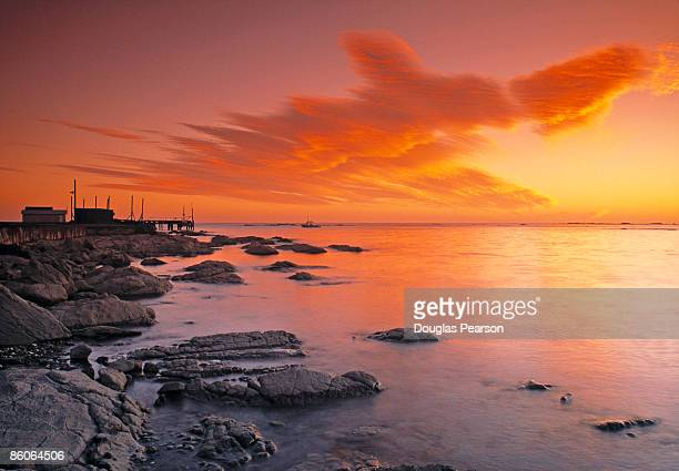 Coast at sunset