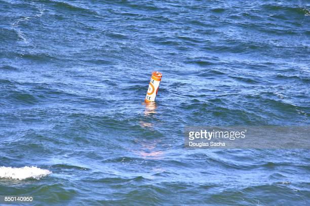 Coast Guard Navigational Buoy marking a restriction on boats