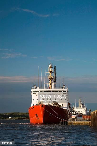 Coast Guard on Saint-Lawrence River, Quebec City, Quebec, Canada