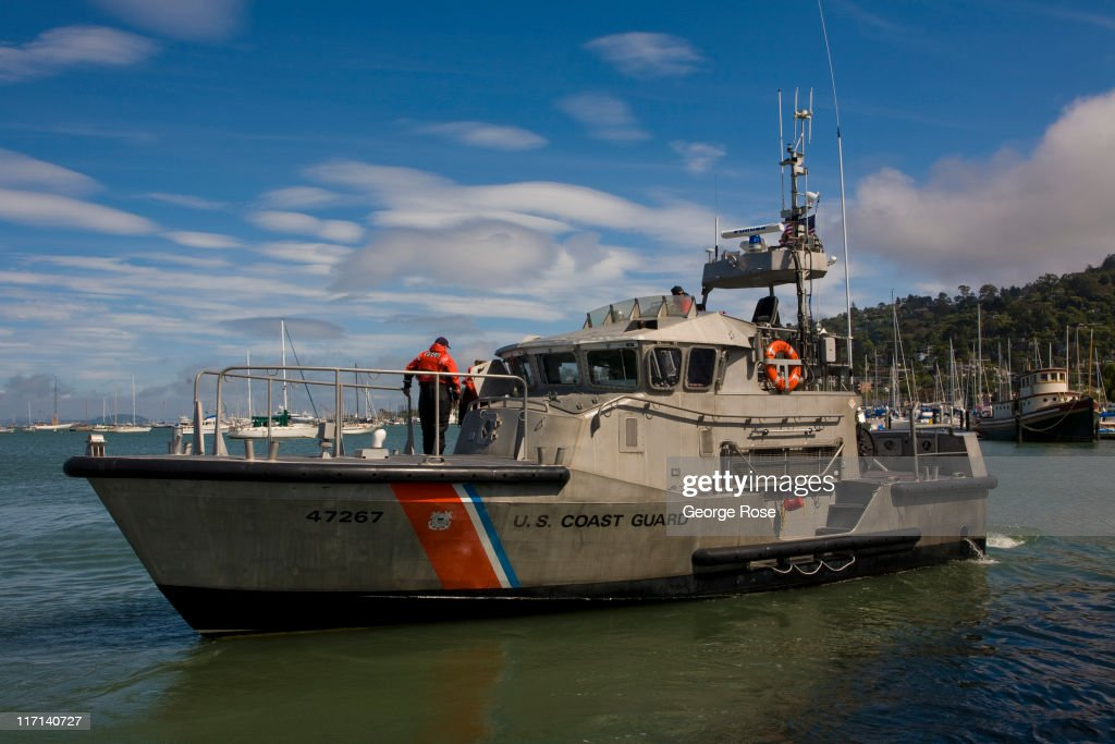 A Coast Guard patrol boat heads out into the bay from the Sausalito Marina on June 11, 2011 in Sausalito, California. The San Francisco Bay is home to thousands of sailing enthusiasts and will be the site of the 2013 America's Cup.