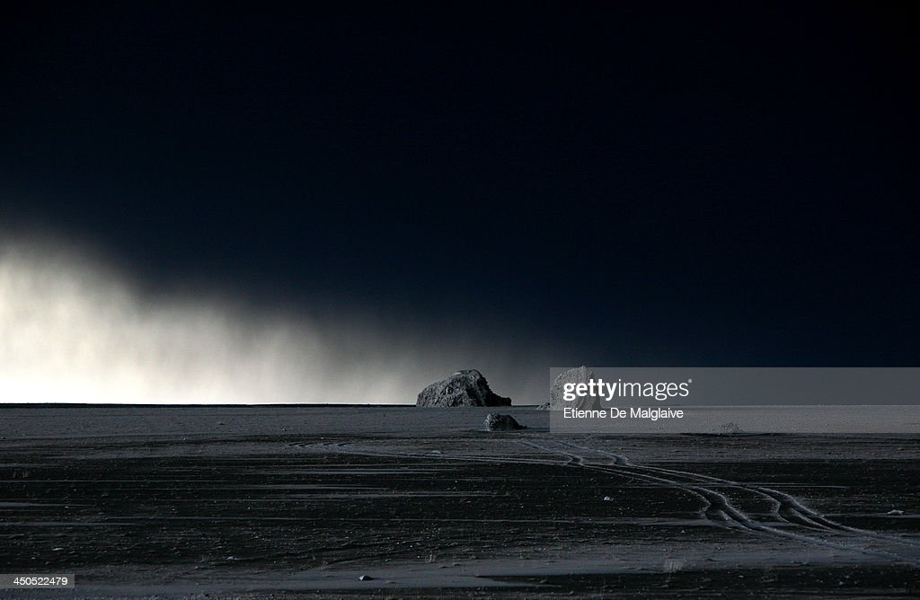 A coastal area under the volcano's plume shows a lunar landscape during a dark fallout of ashes spewed by Eyjafjallajokull, taken in full day light during the afternoon on May 13, 2010 near Reykjavik, Iceland.