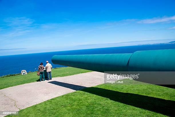 Coastal battery cannon at Monte de San Pedro