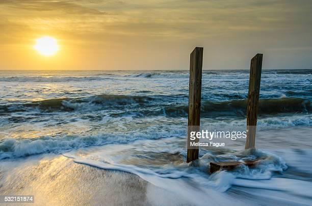 Coastal, Beach Sunrise Seascape Photograph Kissed by the Sea