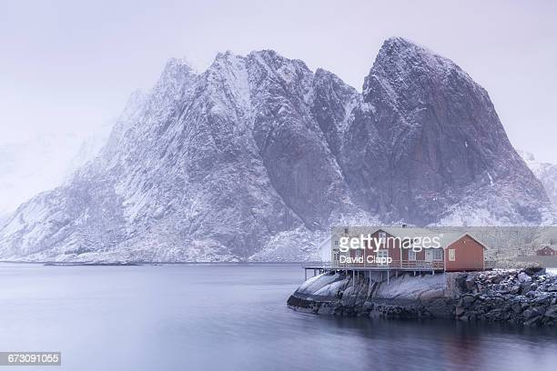 Coastal cabin, Hamnoy, Lofoten Islands, Norway