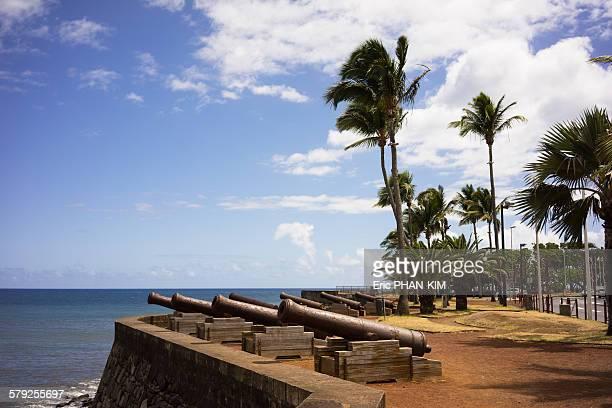 Coastal cannons, Saint Denis de la Reunion, France