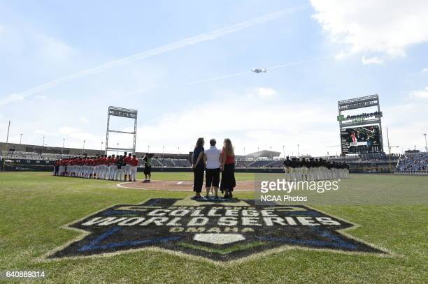Coastal Carolina University take on the University of Arizona during Game 3 of the Division I Men's Baseball Championship held at TD Ameritrade Park...