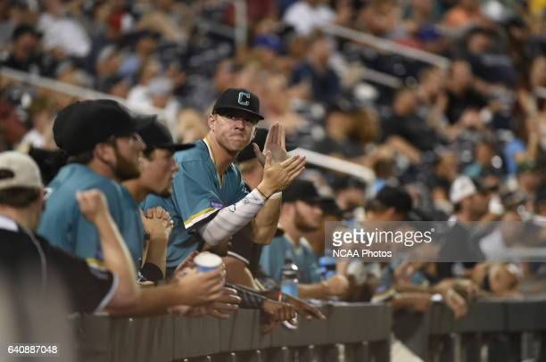 Coastal Carolina University's show their excitement as they're nearing a win against the University of Arizona during the Division I Men's Baseball...