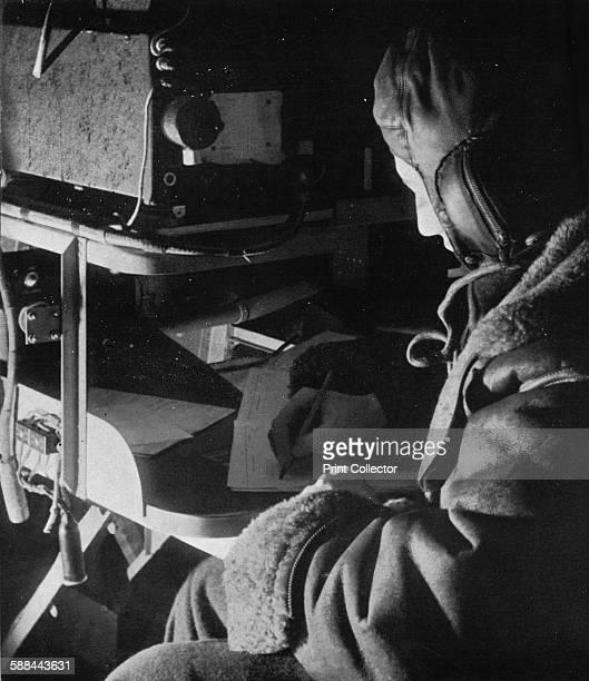 RAF Coastal Command radio operator on board his aircraft circa 1940 From Coastal Command