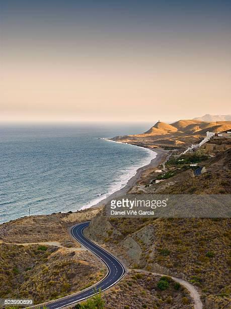 Coastal highway to Carboneras, Cabo de Gata, Spain