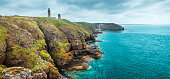 coastal summer landscape of Bretagne, Brittany, France
