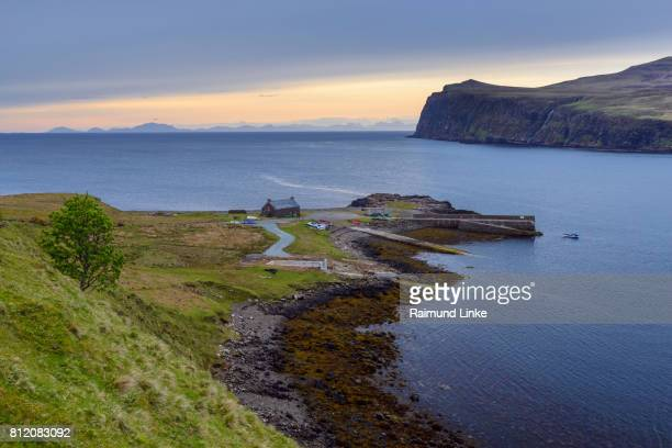 Coastal landscape in the evening at sunset, Isle of Skye, Scotland, United Kingdom