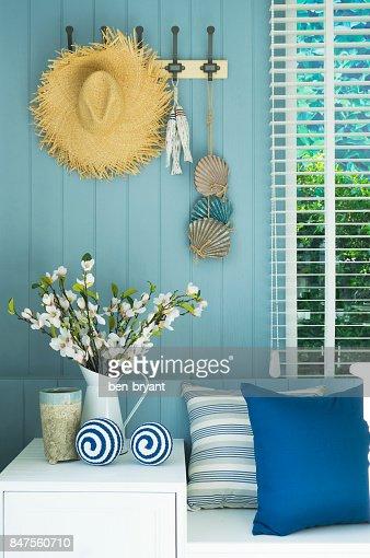 coastal living room : Stock Photo