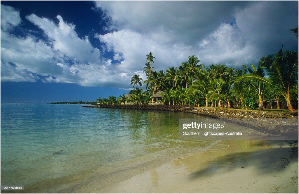 Coastal resort on The Island of Upolu, Western Samoa.