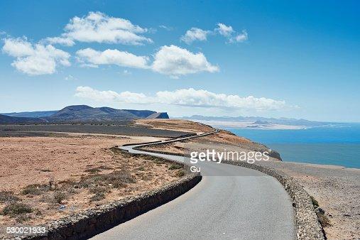 Coastal road, Lanzarote, Spain